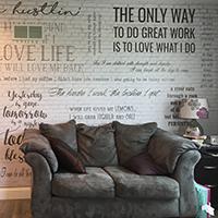 Custom wall decal, custom wallpaper