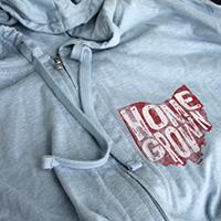 Homegrown Ohio Flag Full-zip hoodie